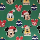 Disney Party Supplies   Disney Characters Wrapping Paper Gift Wrap 1 Roll   Color: Green/Red   Size: Os