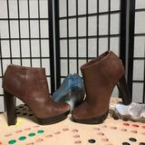 Michael Kors Shoes | Ankle Booties Chunky Platform Stack Leather Cognac | Color: Brown/Tan | Size: 7