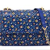 Tory Burch Bags   Fleming Printed Convertible Shoulder Bag   Color: Blue   Size: Approx 6.5h X 14w