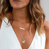 Urban Outfitters Jewelry   Layered Bar & Coin Necklace (Gold)   Color: Gold   Size: Os