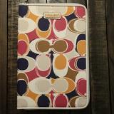 Coach Bags | Coach E Reader Tablet Tech Case - Scarf Print | Color: Orange/White | Size: Os
