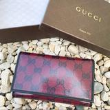 Gucci Bags | Nwt Authentic Gucci Gg Medium Continental Wallet | Color: Black/Red | Size: Os