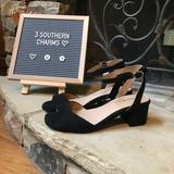 Torrid Shoes | Nwt Torrid Black Square Toe Block Chunky Heels 95 | Color: Black | Size: 9.5 W