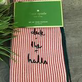 Kate Spade Holiday | Kate Spade Deck The Halls Napkins-Nwt-8 | Color: Green/Red | Size: Os