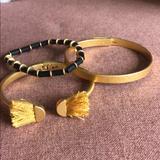 Madewell Jewelry   Madewell Gold Bangles & Bracelets + Bonus Gift   Color: Black/Gold   Size: Os