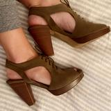 Madewell Shoes | Madewell Heeled Sandals | Color: Brown | Size: 9.5