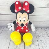 Disney Toys   Disney Parks Original Minnie Mouse 19 Plush Toy   Color: Red/Yellow   Size: 19