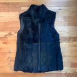 Michael Kors Jackets & Coats | Michael Kors Fur Vest (Rabbit) | Color: Black | Size: Xs