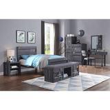 Metal Platform Bed by Mason & Marbles Metal in Gray/Black, Size 56.0 W x 79.0 D in   Wayfair 5412EA6EA5804491A19469CC6DB065BE