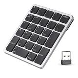 Number Pad Wireless, Havit USB Numeric keypad 26 Keys Portable Mini 2.4GHz Financial Accounting Rechargeable Number Keyboard for Laptop Desktop, PC, Surface Pro,Notebook (Sliver)