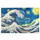 RSADGER The Great Wave Off Kanagawa Starry Night Christmas Puzzles for Adults 1000 Piece Kids Game Toys Gift Home Decor