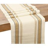 Cotton Table Runners - Farmhouse Table Runner - Beige Table Runner - Cotton Table Runners Farmhouse - Striped Table Runner - Stripe Table Runner Cotton (French Tablerunner - 14x108, Beige and Cream)
