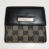 Gucci Bags | Gucci Supreme French Flip Black Leather Wallet | Color: Black | Size: Os