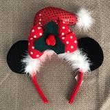 Disney Other   Christmas Minnie Mouse Ears Disneyland Headband   Color: Black/Brown   Size: Osbb