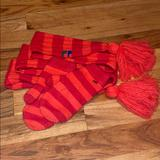 Free People Accessories   Free People Angora Knit Scarf & Mittens Set   Color: Red   Size: Os