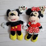 Disney Toys | Mickey Minnie Mouse Disney Plush Mouseketoys | Color: Black/Red | Size: 9 Inches