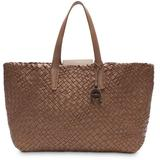 Eitenne Aigner Irene Woven Leather Tote - Brown - Etienne Aigner Totes