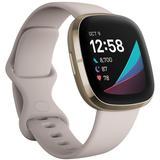 Sense Lunar White Strap Smart Watch 39mm - White - Fitbit Watches