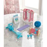 KidKraft Doll Accessories - Pink & Purple Home Gym Accessory Pack for 12'' Doll