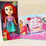Disney Toys | Disney Little Mermaid Baby Doll And Beauty Kit | Color: Red | Size: Osg