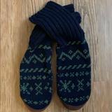 J. Crew Underwear & Socks   J. Crew Vintage Mens Slipper Socks   Color: Blue/Green   Size: S