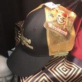 Disney Accessories   Disneys Pirates Of Caribbean Dead Mans Chest Hat   Color: Black/Gold   Size: Adjustable