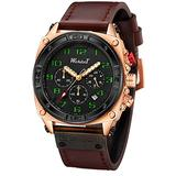 Mens Watches Chronograph Stainless Steel Men Watch Digital Military Sport Watches Men Waterproof Quartz Wrist Watches for Men Luminous Hands/Scales,Automatic Leather Multifunction Cool Watch Calenda