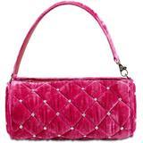 Bon Bon Velvet Baguette Top Handle Bag - Pink - Les Petits Joueurs Shoulder Bags