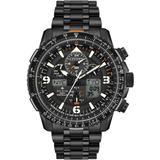 Analog-digital Promaster Skyhawk A-t Black Stainless Steel Bracelet Watch 46mm - Black - Citizen Watches