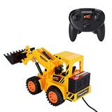 Remote Control Digger,Remote Control Car,5CH 4 Wheel Vehicle,Boys Toys Games Remote Controlled Car Tractor Mini Electronic Construction Excavator Kid's Toy Electric Wired Control Truck Kids Gift