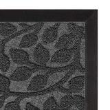Aucuda Durable Indoor Outdoor Door Mat Welcome Mat-Winter Doormat-18x30 Inch,Front Door Mat Rug,Doormats for Home Entrance Way,Non Slip Waterproof,Grey Leaf Design
