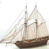 Wooden Sailboat Ship Kit, DIY Sailboat Wooden Model Ship Toy Sailing Decoration Assembling Building Kit, Classical Wooden Sailing Boats Scale Model Decorat Hobby Wood Ship Model Scale for Adults Kids