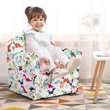 LDAILY Kids Sofa, Children's Sofa with Dinosaur Pattern, Toddler Furniture Armrest Chair, Baby Sofa Chair with Sturdy Wood Construction, Cartoon Character, Boys & Girls, Ideal for Bedroom, Living Room