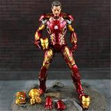 MizzZee New Hot The Avengers Iron Man Action Figure Model 20cm MK42 MK43 Ironman Doll PVC ACGN Figure Toy Brinquedos Anime Kids Toys 18cm