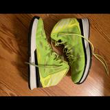 Adidas Shoes | Neon Yellow Adidas Womens Basketball Shoes | Color: Yellow | Size: 8
