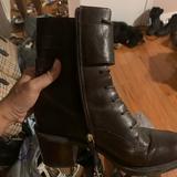 Nine West Shoes | Nine West Combat Boots | Color: Purple | Size: 9