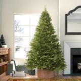 The Holiday Aisle® Customizable Christmas Tree & Garland Set Kaye Fir w/ Clear Lights in Green/White, Size 6.5'   Wayfair