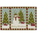 The Holiday Aisle® Snowman Christmas Wishes Kitchen Mat Plastic in Gray, Size 0.3 H x 30.0 W x 46.0 D in   Wayfair EA56D48E9A1347468E83FA94CA62AE46