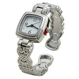 Blekon Collections Quartz Womens 24mm Intricate Concho Bangle Watch (Silver)