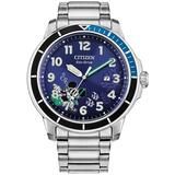 Mickey Mouse Water Sport Stainless Steel Bracelet Watch 46mm - Metallic - Citizen Watches