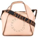 Mini Stella Logo Tote Bag - Natural - Stella McCartney Shoulder Bags
