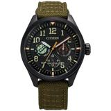 Star Wars Cordura Fabric Strap Watch 43mm - Green - Citizen Watches