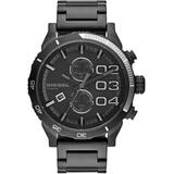 Chronograph Double Down 2.0 Black Ion-plated Stainless Steel Bracelet Watch 59x48mm - Gray - DIESEL Watches