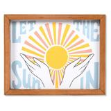 Sonoma Goods For Life Let the Sun In Framed Canvas Wall Decor, White
