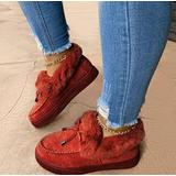 Women's Casual Fashion Flat Boots, Winter Snow Boots, Fur Warm Winter Durable Shoes Womens Snow Boots for Women (red,8)