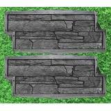 """Lot 2 Stone Mold Plastic Molds for Concrete Plaster Wall Stone Cement Tiles Betonex 20,5""""х7,5""""х1,37"""" (520×190×35mm) - Concrete Molds Wall Stone Plastic Stone Wall - Stone Veneer Mold for Concrete"""