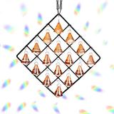 16 Pack Clear Glass Crystal Ball Ornaments, Metal Crystal Garden Pendant Rainbow Crystal Decoration Crystal Ball Prism with Box for Window Garden Home Decoration Christmas Wedding Gift
