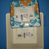 Lilly Pulitzer Dining   Lilly Pulitzer Matching Dessert Plates And Napkins   Color: Blue/Orange   Size: 20 Napkins, 8 Plates