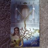 Disney Jewelry   Disney Beauty And The Beast Neckles   Color: Gold   Size: 18 Inches