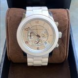 Michael Kors Accessories | Michael Kors Mens White Watch | Color: White | Size: Os
